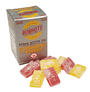 Robhots Megadose 500mg Infused with THC Distillate - Strawberry Bananna