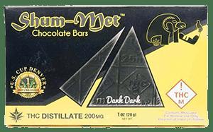 Shum-Met Chocholate Bar - 200mg - Dank Dark