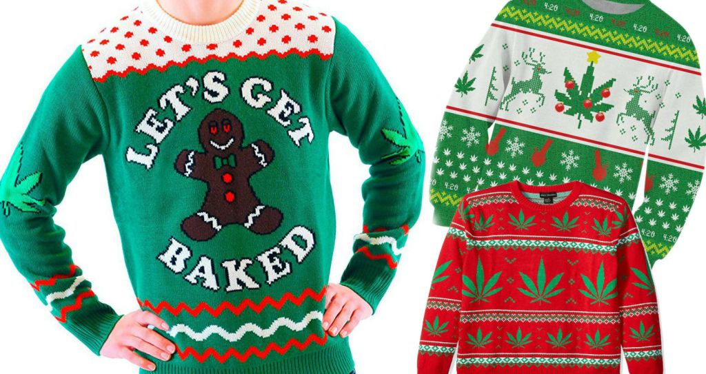 Weed Themed Ugly Sweaters for Every Holiday Pot Party