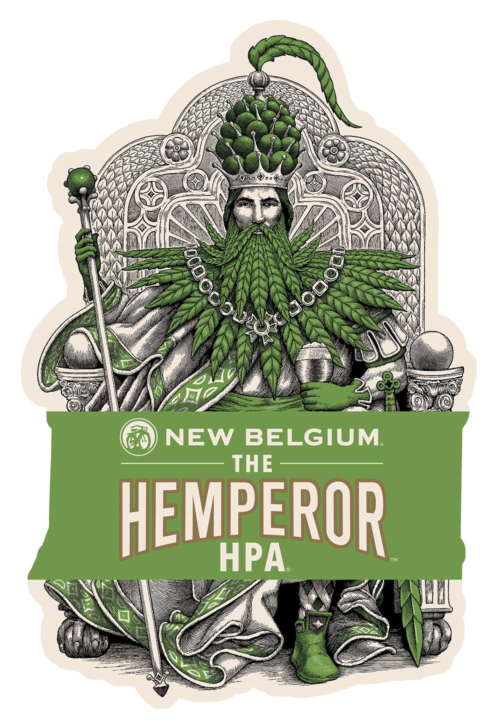 New Belgium announces The Hemperor HPA hemp beer. (photo provided by New Belgium Brewery)